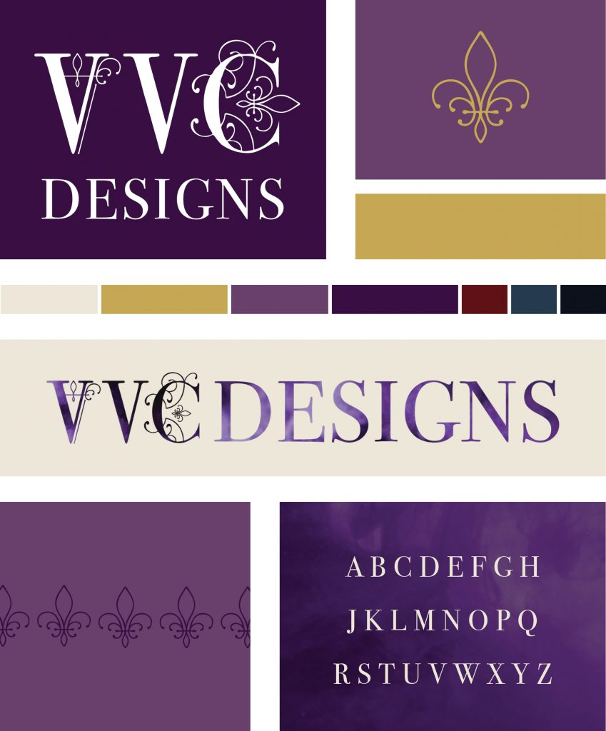 The style guide for Burlesque Brand Design for VVC Designs