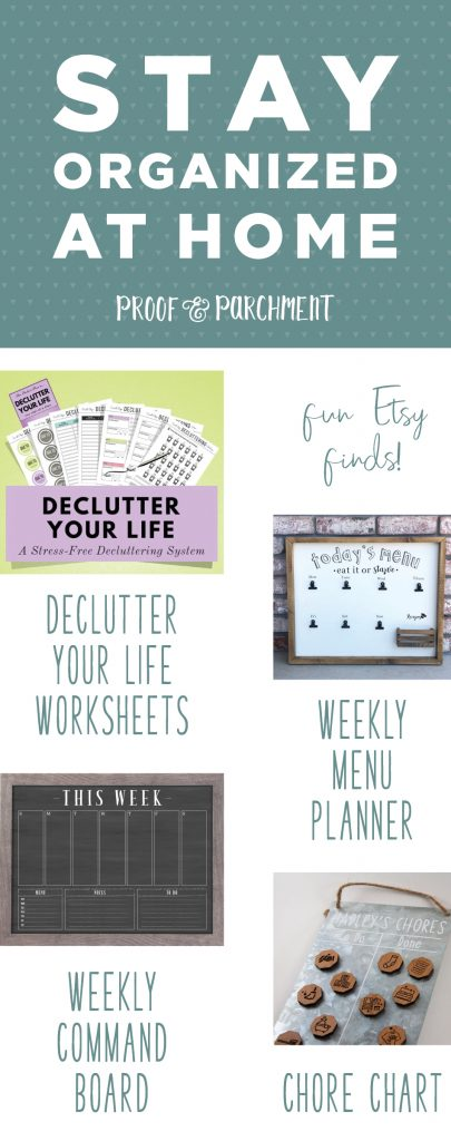 Back to School Supplies & Organization: Stay organized at home with these etsy finds