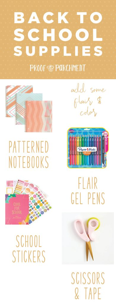 Back to School Supplies & Organization: Back to school supplies