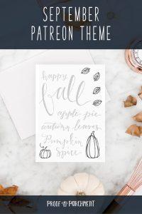 September Patreon Theme: Fall Time