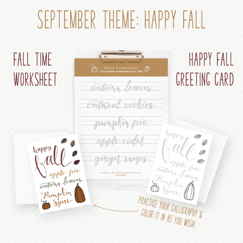 Happy Fall: September Patreon theme and goodies