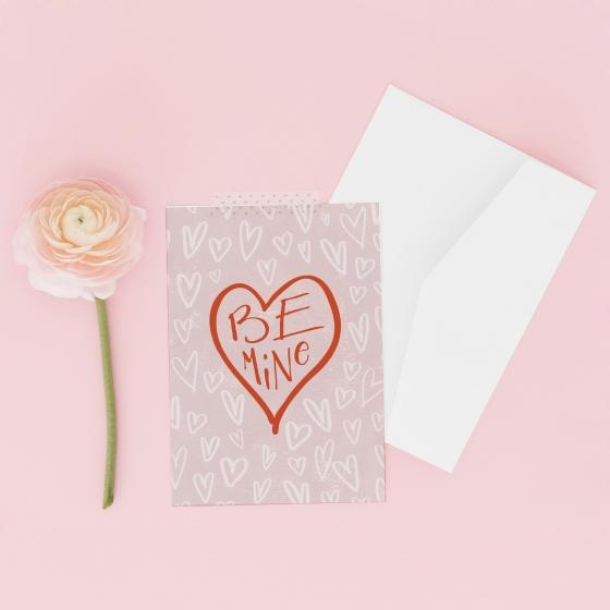 Valentine's Day Card: Be Mine