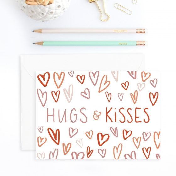 Valentine's Day Card: Hugs & Kisses