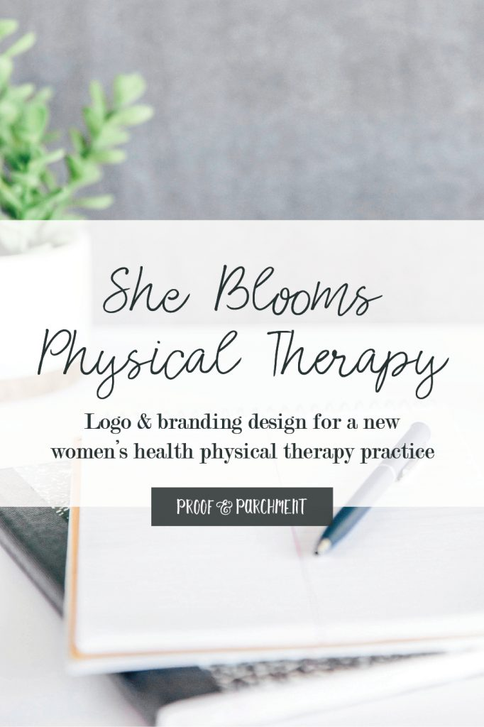 She Blooms Physical Therapy: Logo & branding design for a new women's health physical therapy practice