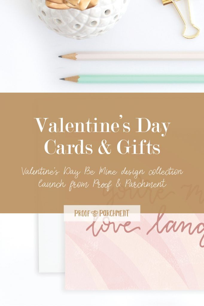 Valentine's Day Cards & Gifts: Valentine's Day Be Mine design collection launch from Proof & Parchment