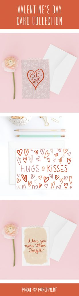 Valentine's Day Cards: Be Mine, Hugs & Kisses, I love you more than Target