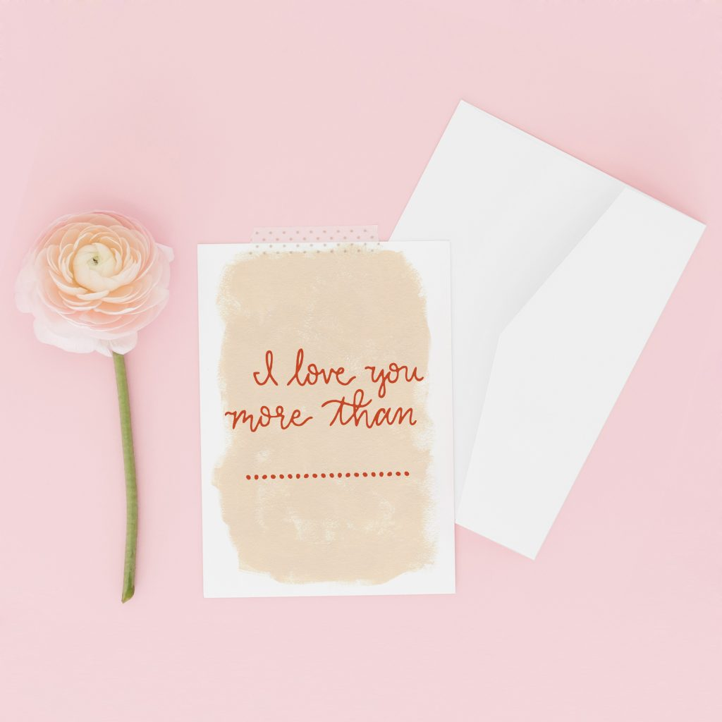 Valentine's Day Card: I Love You More Than Fill in the Blank