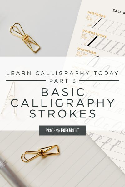 Learn Calligraphy Today Part 3: Basic Calligraphy Strokes