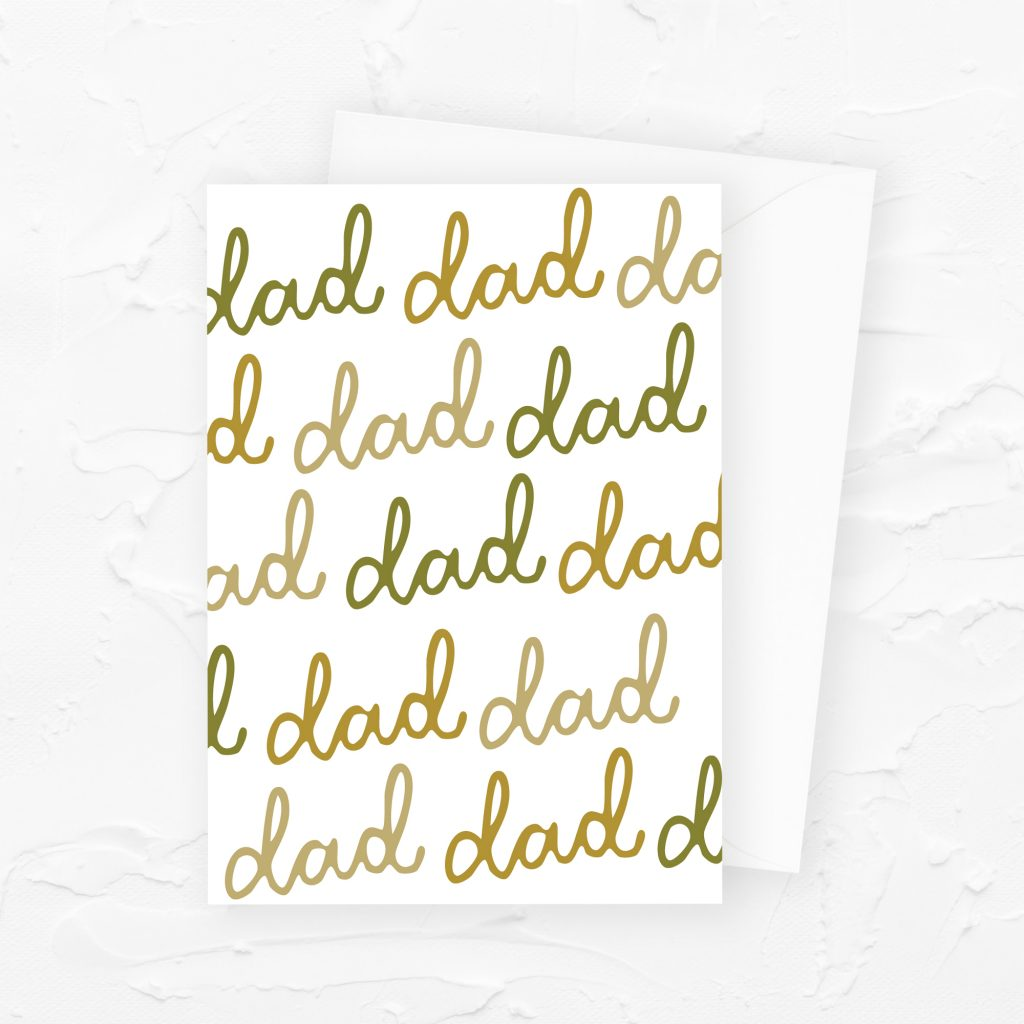 Father's Day Card: Dad, dad, dad