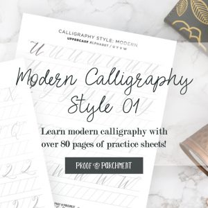 Learn hand lettering with these modern calligraphy worksheets